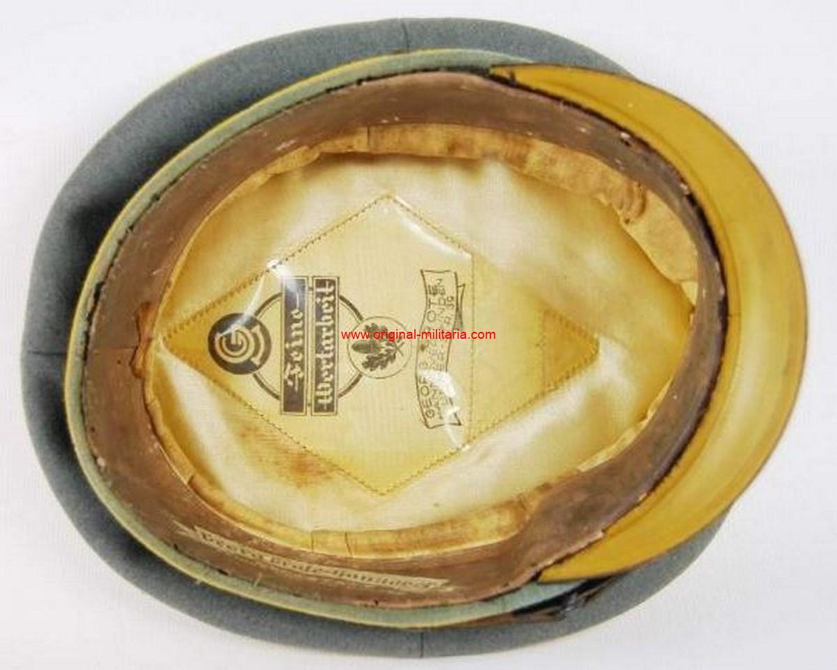 """WH/ Gorra de Plato de Suboficial del """"17 Regimiento de Caballería de Braunschweig"""""""